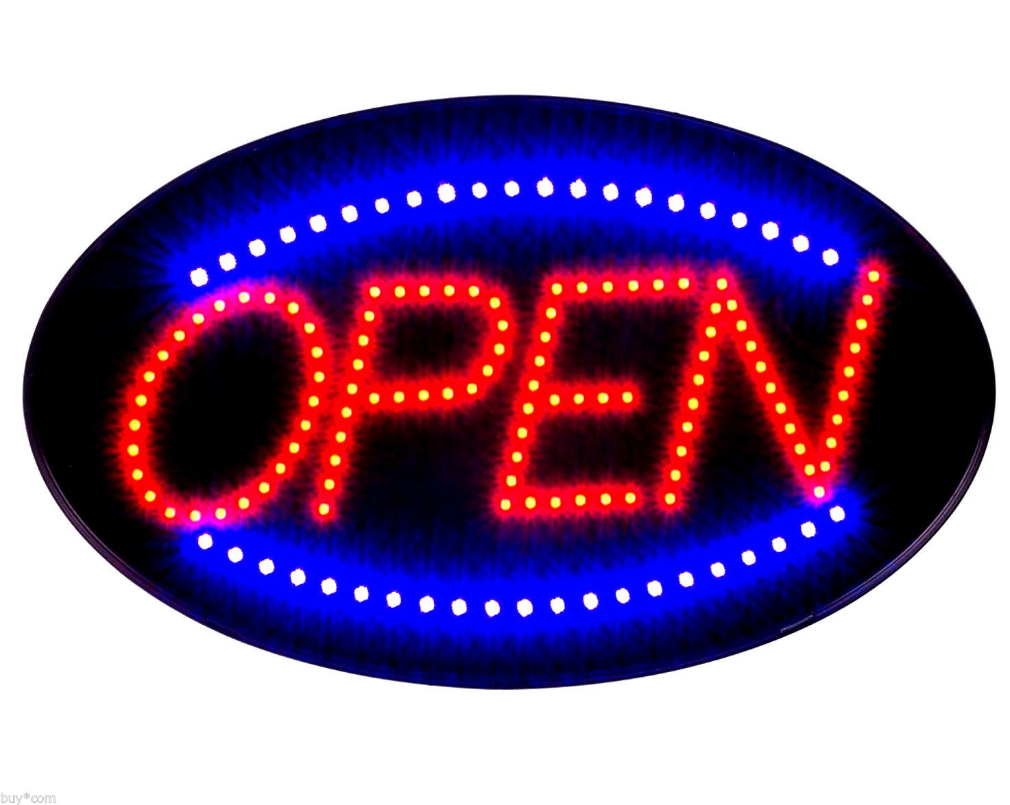 Ultra Bright LED Neon Light Animated OPEN Sign S30