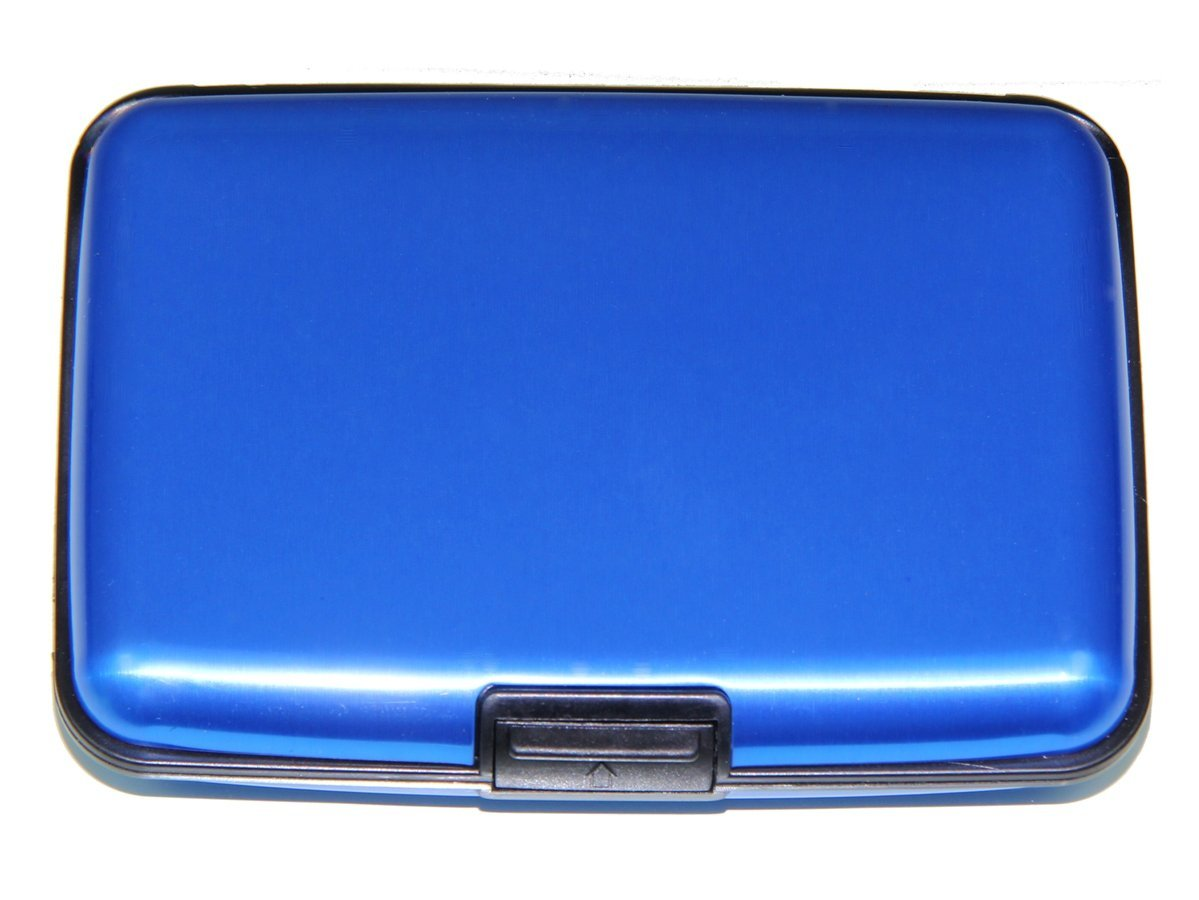 RFID Blocking Aluminum Credit Holder Business Card Case (Blue)
