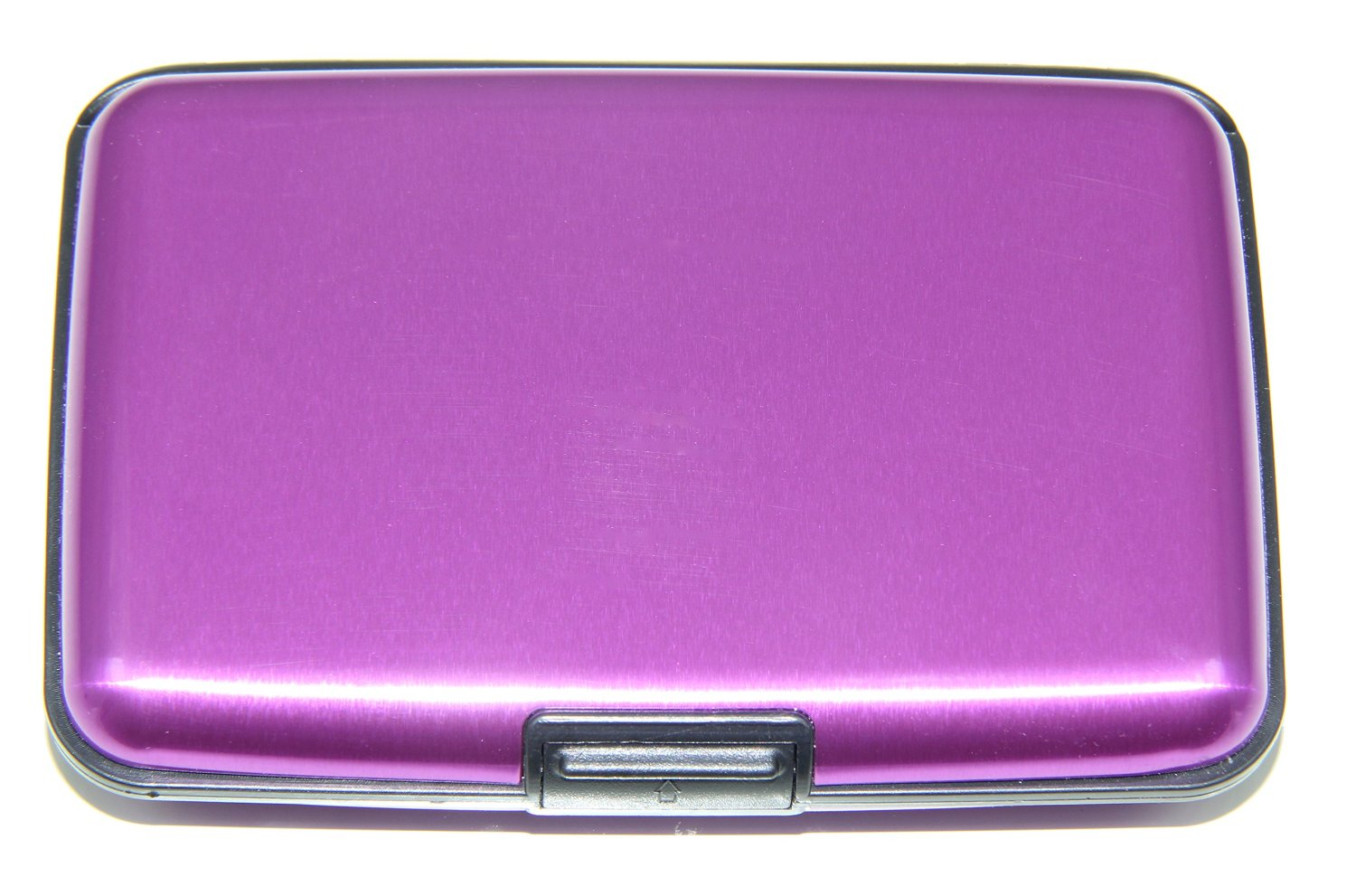 RFID Blocking Aluminum Credit Holder Business Card Case (Purple
