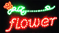 LED Neon Light Animated FLOWER STORE Open Sign B51