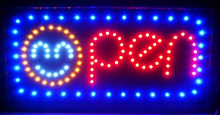 LED Neon Light Animated Motion OPEN Business Sign L01
