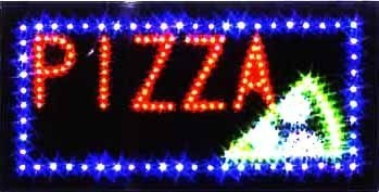 LED Neon Light Animated Motion PIZZA OPEN Sign L14