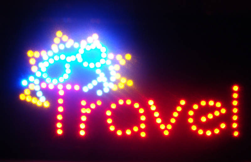 LED Neon Light Animated Travel Business Sign LB159