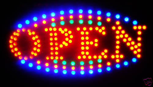 LED Neon Light Animated Motion OPEN Business Sign L23