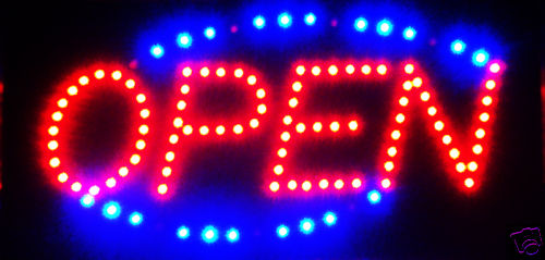 Ultra Bright LED Neon Light Animated OPEN Sign L30