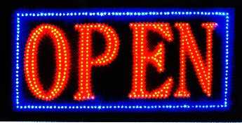 Ultra Bright LED Neon Light Animated OPEN Sign L32