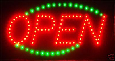 Ultra Bright LED Neon Light Animated OPEN Sign L33