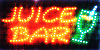 LED Neon Light Animated Motioin JUICE BAR OPEN Sign L44