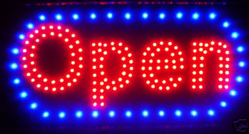 LED Neon Light Animated Motion OPEN Business Sign L46