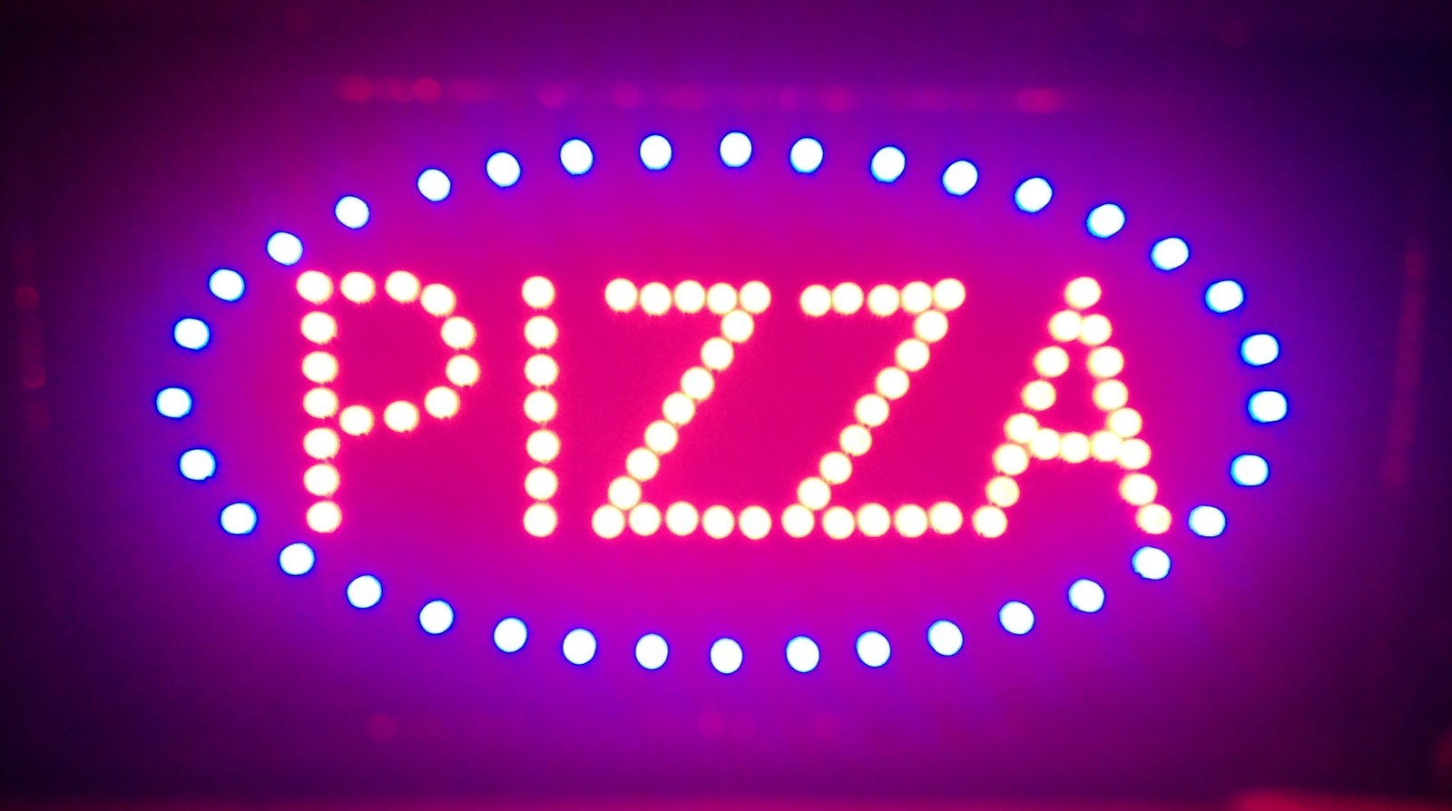 Ultra Bright LED Neon Light Animated Motion PIZZA Sign L49