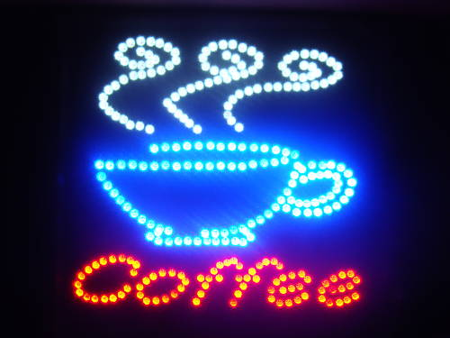 LED Neon Light Animated Coffee CUP Business Sign LB64