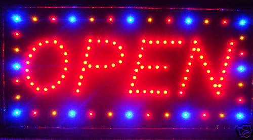 LED Neon Light Animated Motion OPEN Business Sign LB8