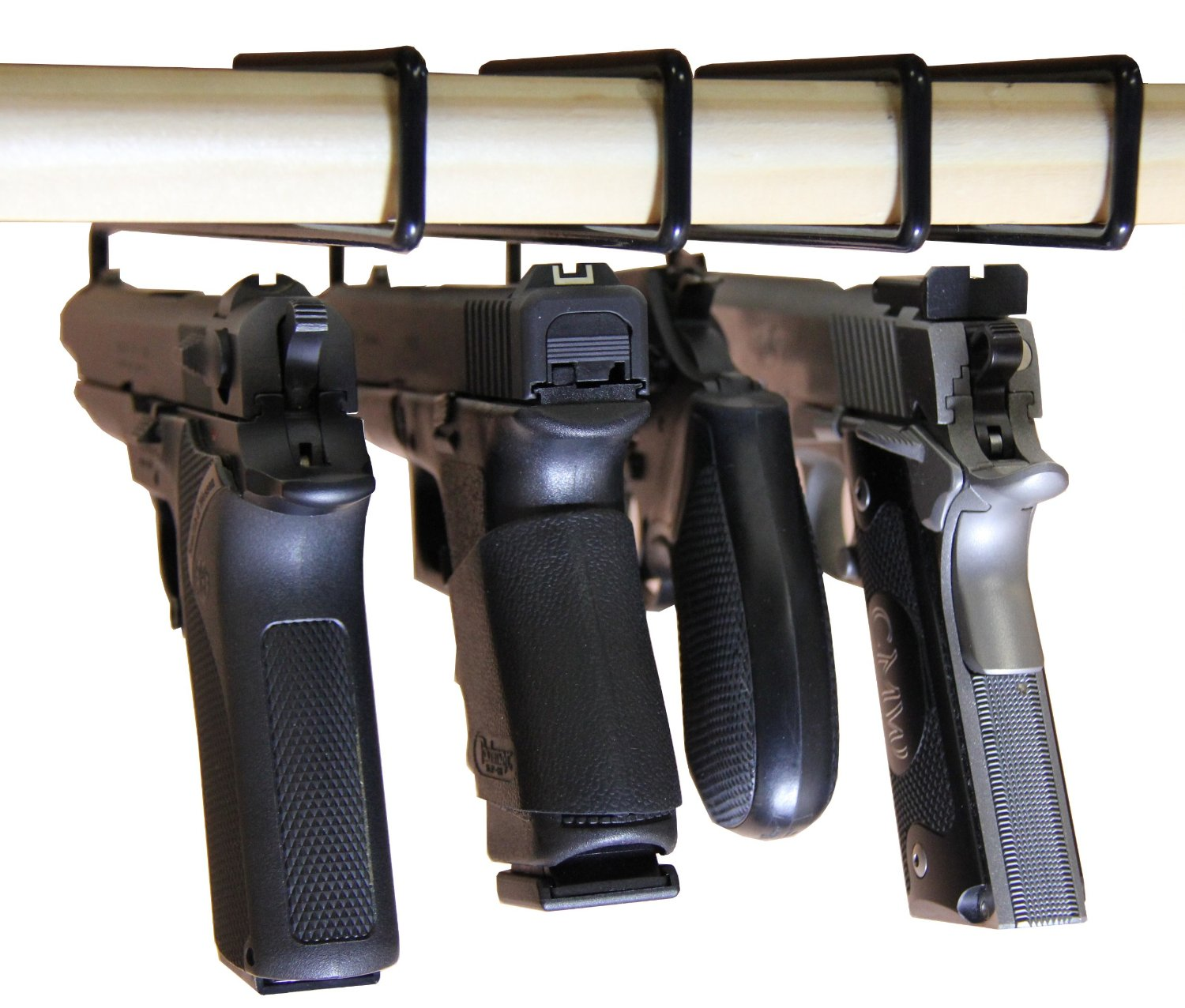AmeriGun Club SAFETY STORAGE Hanger Pack of 4 Original Handgun - Click Image to Close
